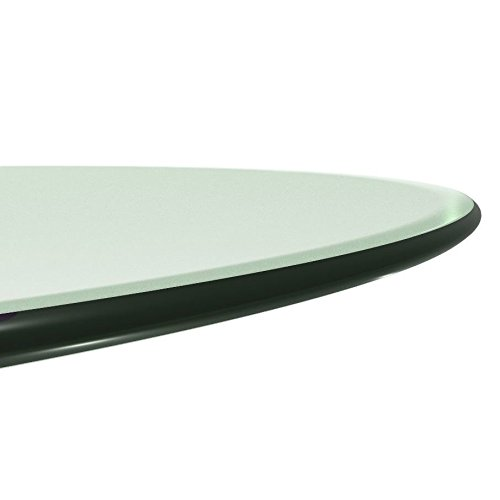 Milan RD303010PEC 30'' Round Tempered Glass Top 3/8'' Thick with Pencil Polish Edge by Milan (Image #2)