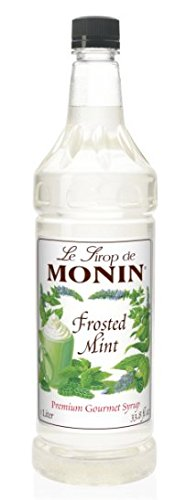Monin Flavored Syrup, Frosted Mint, 33.8-Ounce Plastic Bottle (1 -