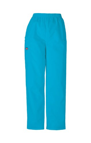 5c40b261181 Scrubs - Cherokee Authentic Workwear 4200 Pull-On Cargo Scrub Pant  (Turquoise, S