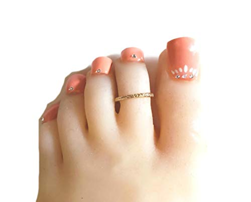 California Toe Rings 14k Gold Filled Hawaiian Adjustable Toe Ring One Size Fits All Most (Ring Gold Toe Cheap)