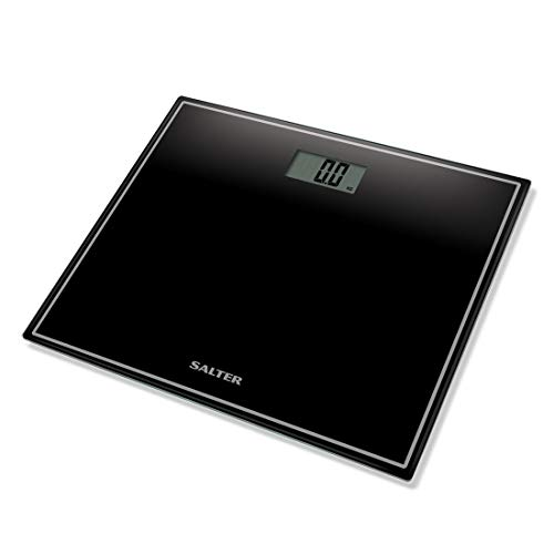 Salter Compact Digital Bathroom Scales - Toughened Glass, Measure Body Weight Metric...