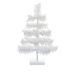 "EST. LEE DISPLAY L D 1902 18"" Classic White Tinsel Feather Tree Tabletop Christmas Retail Tree 60"