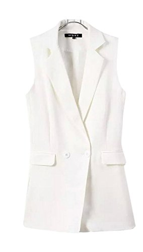 New Lingswallow Women's Elegant Workwear Sleeveless V Neck Blazers Jumpsuit Rompers for sale