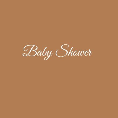 Baby Shower ........: Libro degli ospiti Bambino Baby Shower Guest book guestbook ospiti decorazioni accessori idee regalo Bambino battesimo 100 ... x 21 cm Copertina Marrone (Italian Edition)