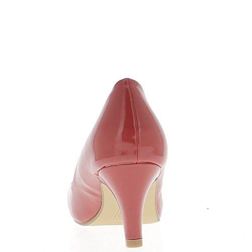 ChaussMoi Pequeño Polaco de Bombas Rojo Mujer Zapatos de Tacón 6,5 cm