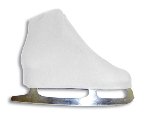 A&R Sports Lycra Ice Skate Boot Covers, White -