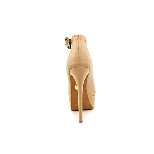 Betsey Johnson Womens Elianna Platform Pump Nude Leather m7kTUQift