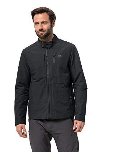 Jack Wolfskin Men's Port Lincoln Jacket Men's Short Biker Style Jacket Pfc Free,Phantom ,Medium