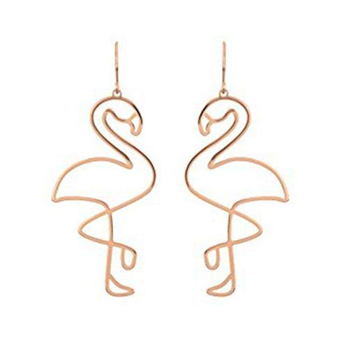 Cratone Gold Flamingo Bird Summer Women Stud Earrings Birthday Chriatmas Thanksgiving Graduation Ceremony Gifts 6.5 * 2.8cm by Cratone