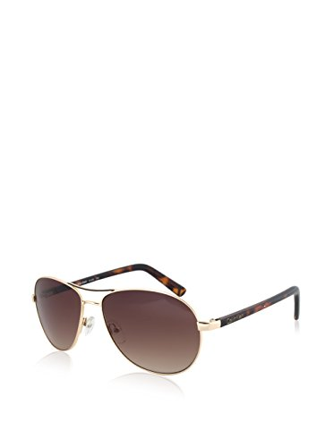Calvin Klein Women's CWR153S-743 Aviator Sunglasses, Golden, 16 - Calvin Sunglasses