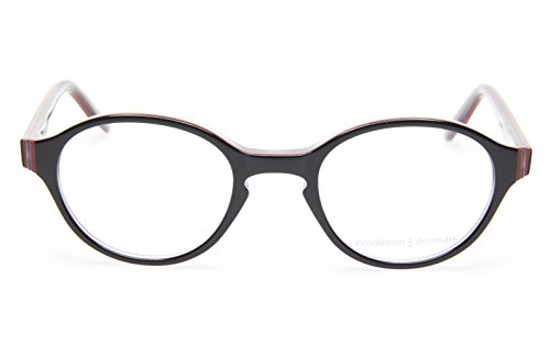 NEW PRODESIGN DENMARK 1702 c.6032 BLACK EYEGLASSES FRAME 44-19-135 B35mm Japan
