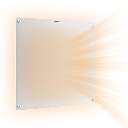 Wall Mount Panel Heater -400 Watt Convection Heater Ideal for 50-100 Sq Ft Room,Overheat Protection,for Home Bedroom…