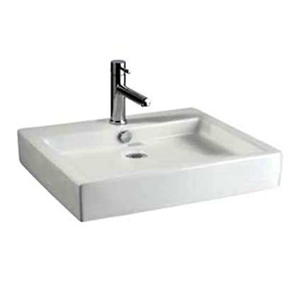 Bon American Standard 0621.001.020 Studio Above Counter Rectangular Vessel  Sink, White