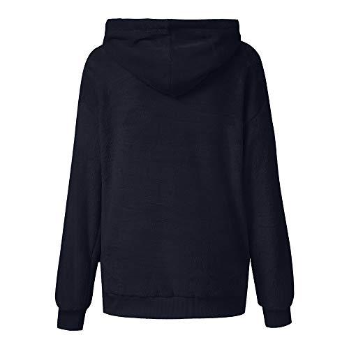 KEERADS Damen Sweatshirt Winter Oversized mit Kapuze