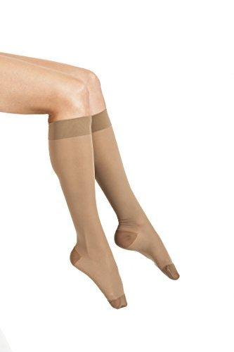 ITA-MED Sheer Knee Highs, Compression(20-22 mmHg), Beige, Medium by ITA-MED