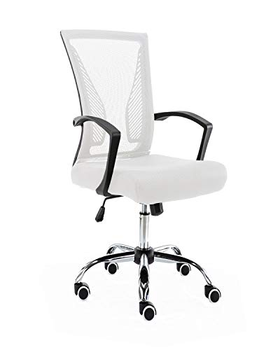 Modern Home BKWHITE Zuna Mid - Back Office Chair, Black/White