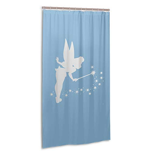 VIMMUCIR Tinkerbell Platinum Shower Curtain Waterproof Bath Curtain for Bathroom 36 X 72 in