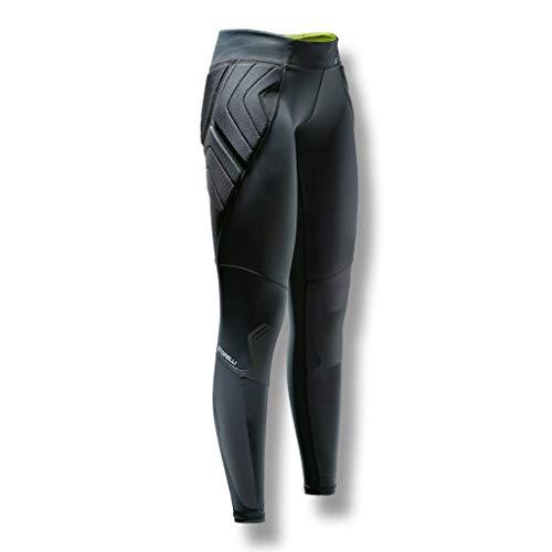 Storelli Women's BodyShield Goalkeeper Leggings 2.0 | Padded Soccer Goalie Pants | Enhanced Lower Body Protection | Black | Medium