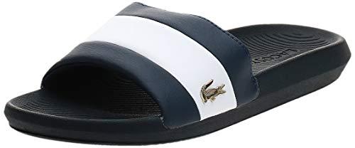 Lacoste Men's Croco 120 3 US SMA Sliders, Blue
