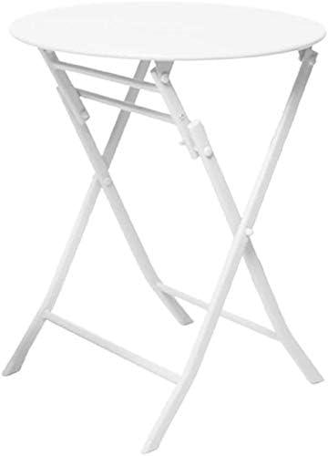 une petite table /à manger 55x72cm ordinaire de simples,White Table pliante table ronde en fer forg/é en plein air//balcon//jardin tables de th/é portables