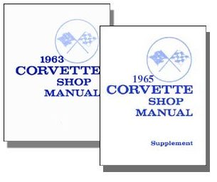 1965 Chevy Chevrolet Corvette Repair Shop Service Manual 2-Book Set GM 65 (with Decal) ()
