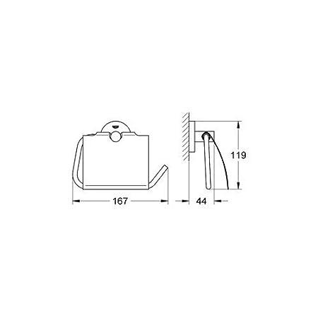40623001 Portarrollos Rectangular  Soporte de papel higi/énico de repuesto Ref Grohe Essentials