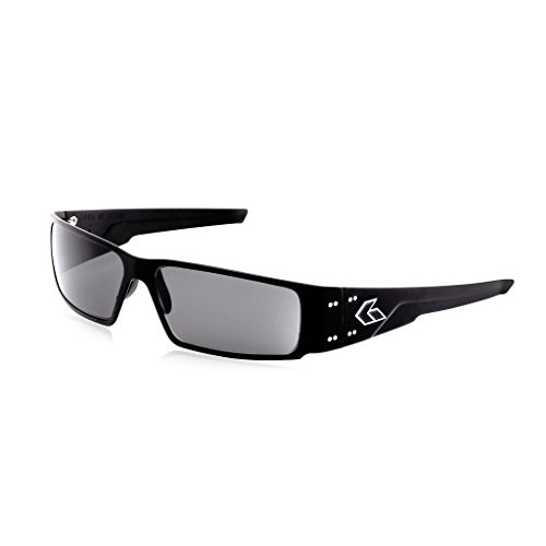 Gatorz Octane Sunglasses, Metal Aluminum Frame, Military Tactical Style, Made in USA - Black Sunglasses Polarized Smoked Lens