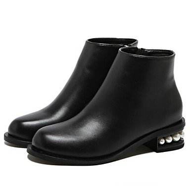 5 Boots US5 5 Boots Casual RTRY Boots EU36 For Leather Black Fashion CN35 UK3 Mid Real Calf Fall Women'S Shoes Winter 00HqZa