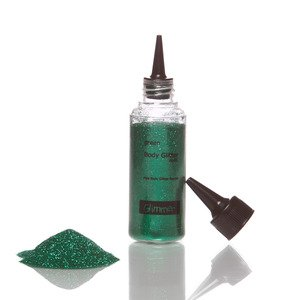 Glimmer Body Art Glitter Tattoo Green Body Glitter Refill ()
