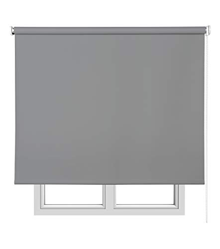 Estores Basic, estores opacos, gris oscuro, 120x250cm, estores plegables, persianas enrollables para el interior.: Amazon.es: Hogar