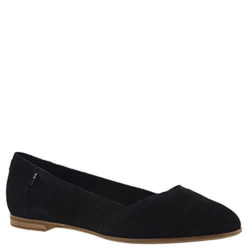 TOMS Women's Julie Flats Black Suede 8.5 (Tom Toms Shoes Womens)
