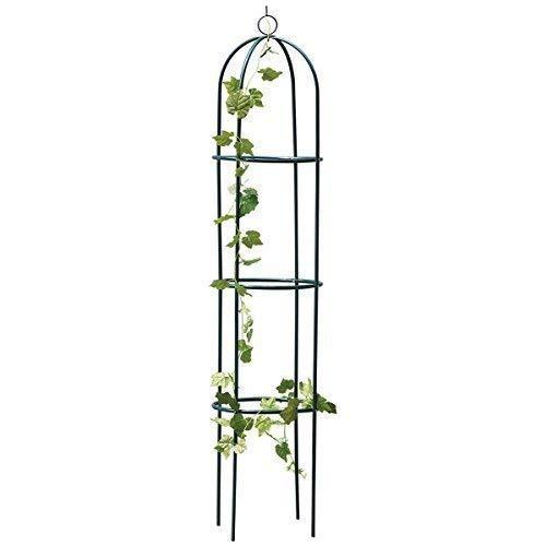 Garden Mile® Large 2M Black Metal Garden Obelisk Heavy Duty Strong Tubular  Plant Cage For