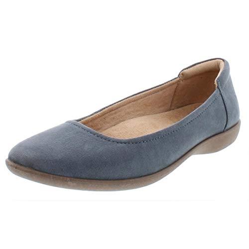 Naturalizer Womens Flexy Faux Suede Round Toe Ballet Flats Blue 7 Medium (B,M)