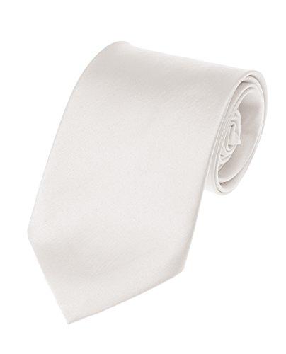 Men's Smooth Satin Solid Color Extra Long XL Necktie, -