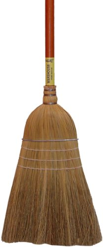Zephyr 33128 Broomcorn Fiber Amber Handled Warehouse Broom, 60'' Overall Length, 28 Size (Case of 6) by Zephyr