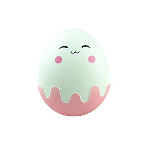 Polytree Egg Design Travel Contact Lens Case Box Set Cleaning Holder Soak Storage (Pink)