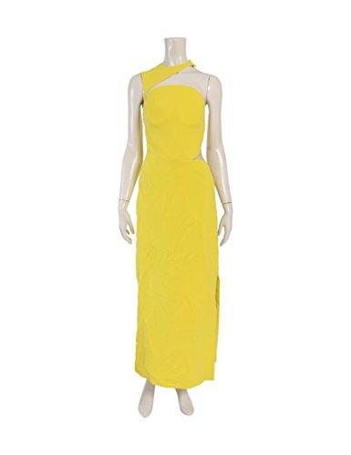 (ヴェルサーチ) Versace ドレス ワンピース 黄 サイドスリット 中古 B07FKCB4RF  -