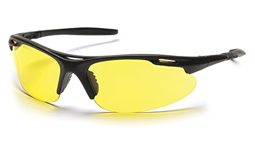 Pyramex Safety Avante Eyewear, Black Frame, Amber Lens