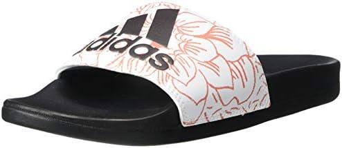 adidas Women's Adilette Comfort Slipper, FTWR White/core ...