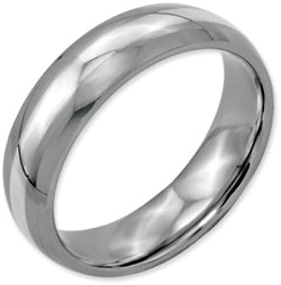 Best Quality Free Gift Box Titanium Sterling Silver Inlay 8mm Polished Band