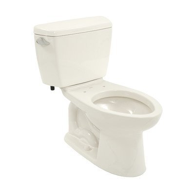 Drake Eco 1.28 GPF Elongated 2 Piece Toilet Toilet Finish: Colonial White, Trip Lever Orientation: Left-Hand