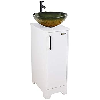Amazon.com: Small Bathroom Vanity Cabinet Sink with Faucet ...
