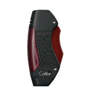 Colibri Maui Granulit Black Matte Black Andonized Red Lighter - Colibri QTR244011 Colibri Matte