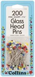 Bulk Buy: Dritz Colored Glass Head Pins Size 22 200/Pkg C108 (2-Pack) Prym Consumer USA Inc.