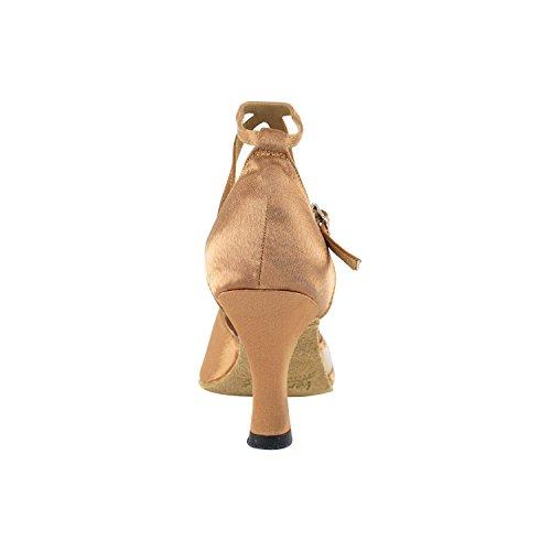 """Gold Taube Schuhe 50 Shades Of Tan Tanzkleid Schuhe Collection-III, Komfort Abend Hochzeit Pumps: Ballroom Schuhe für Latein, Tango, Salsa, Swing, Kunst von Party Party (2,5 """", 3"""", 3,5 """"Heels) 6018 Braun Satin & Fleisch Mesh"""