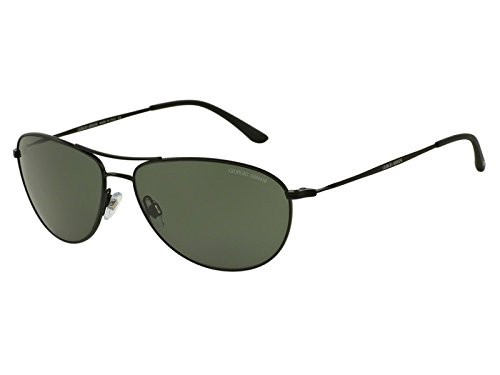 Giorgio Armani - FRAMES OF LIFE AR 6024, Aviator, metal, men, MATTE BLACK/GREEN(3001/31), - Giorgio Armani Of Life Frame