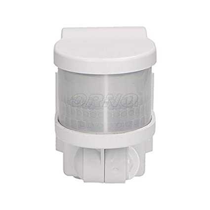 Sensor de movimiento de montaje en esquina exterior blanco 12 m/270 ° para montaje