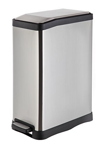 Home Zone 40L Dual Compartment Recycle Step Trash Can