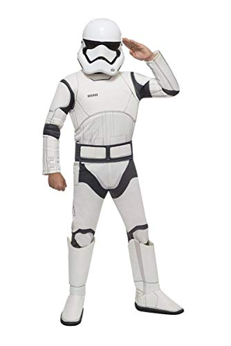 Star Wars VII: The Force Awakens Deluxe Child's Stormtrooper Costume and Mask, Large -