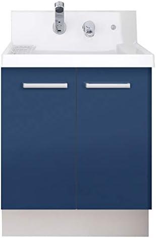 イナックス(INAX) 洗面化粧台 K1シリーズ 幅60cm 両開きタイプ シングルレバーシャワー水栓 K1N4-605SYN 寒冷地用 アーバンブルー(B12H)